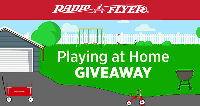 To help families get ready for summer as we play safe at home, Radio Flyer is giving away one product a day during our #PlayingAtHome Giveaway! Be sure to check back daily for the latest giveaway and enter for your chance to win. For more resources to help your family continue #PlayingAtHome, please visit Virtual Resource Center
