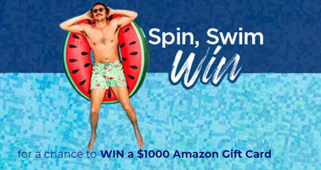 Spin the tube for a chance to WIN a $1,000 Amazon Gift Card or one of 25 other Amazon gift card prizes. Play the Anthony & Sylvan Pools Staycation Instant Win Game today!