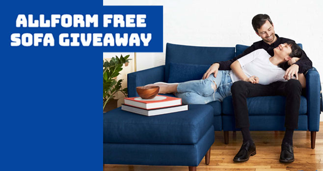 To celebrate the launch of their brand, Allform is giving away a custom modular sofa to one lucky winner. The winner can customize and build their own sofa of an equal or lesser value of $3,000.