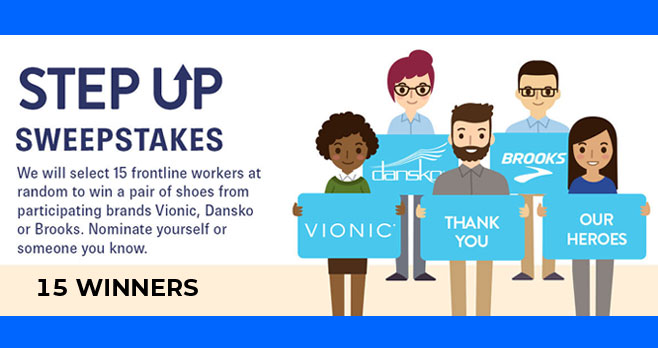 Enter for your chance to win a pair of Vionic, Dansko or Brooks shoes from Shoes.com. They will select 14 #frontline workers at random to win a pair of shoes. Nominate yourself or someone you know.