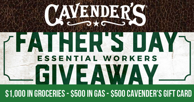 Enter for your chance to win $1,000 in Free Groceries! Nominate the father figure in your life who's been working in the battle against COVID-19 for his chance to win the Grand Prize! Maybe he's your dad, brother, uncle, friend or neighbor!