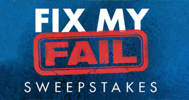 HGTV Fix My Fail Sweepstakes Code Word. HGTV is giving away $2,000 in cash to 10 Winners! Grab the code word and enter for your chance to win! Entries featuring an incorrect Code Word will not be eligible.