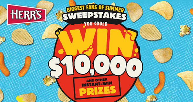 This summer, Herr Foods is celebrating their fans with an instant win game full of over 10,000 great prizes to take your summer to the next level, including a chance to win the grand prize of $10,000!