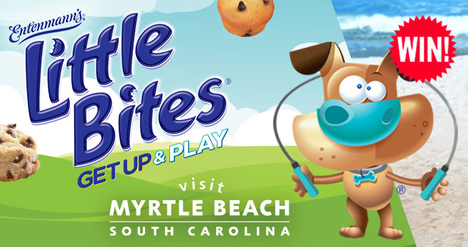 Enter for your chance to win one of 151 prizes when you enter the Get Up & Play with Little Bites Sweepstakes. Rain or shine, hot or cold, there are always ways to Get Up & Play! Before you Get Up & Play, enter now for your chance to win a family vacation to Myrtle Beach (valid through 2021), FREE Little Bitessnacks or a family backyard game!