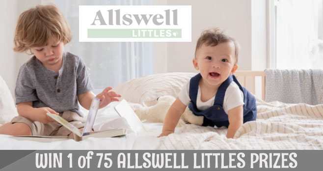Enter for your chance to win one of 75 Allswell Littles baby prize packs.