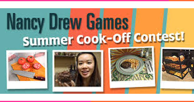 Enter for your chance to win gift cards and Nancy Drew swag when you enter the Nancy Drew Summer Games Summer Cook-Off. To enter, share creative photos or videos of your best original Nancy Drew Game-themed meals and snacks!
