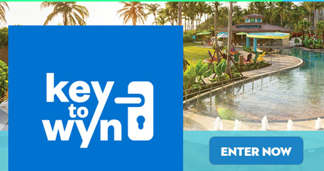 Enter for your chance to win a trip to Rio Mar Margaritaville or 1 of 10,000 Amazon gift cards when you play the Key to Wyn Instant Win Game! This is your chance. Unlock paradise. You could win an epic vacation experience. Enter your email address to get started.
