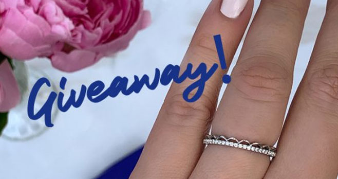 Enter for a chance to win a beautiful TACORI Crescent Crown Diamond Ring in 18k white gold valued at $2,090