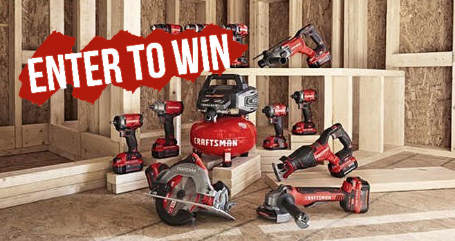 Enter daily for a chance to win 11 cordless brushless V20 power tools from CRAFTSMAN and Bob Vila. From building a deck to updating your kitchen, you need a set of tools you can rely on.