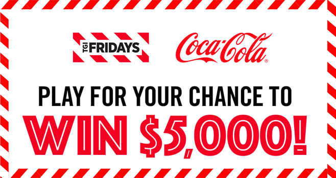 """Play the Win With Fridays Instant Win Game to win cash and prizes plus FREE GI Fridays Gift Cards. A total of 393 prizes are up for grabs from this new TGI Fridays """"Win With Fridays"""" Instant Win Game!"""