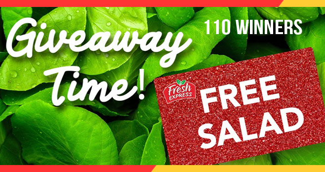 110 WINNERS! It's time for another Fresh Express #Giveaway! Enter for a chance to win FREE Fresh Express coupons. Follow @FreshUpdates and tag a friend in their giveaway post or enter on the website, Facebook or Instagram.