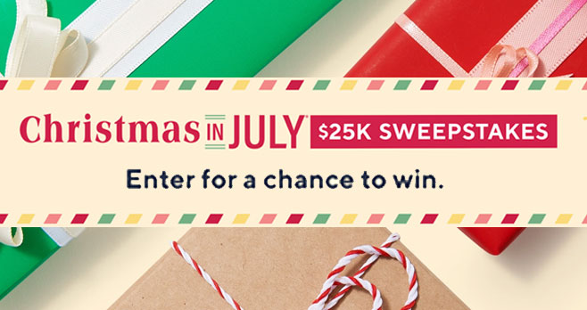 Enter for your chance to win $25,000 in cash from #QVC! This year more than ever before, we could all use an extra dose of cheer. From July 1–July 31, enter daily for your chance to win the grand prize of $25,000 or 1 of 3 exciting prizes from Beekman 1802, Barefoot Dreams, and Patricia Nash.