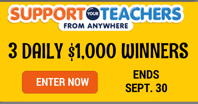 Quaker Back to School Sweepstakes (3 Daily $1,000 Winners)