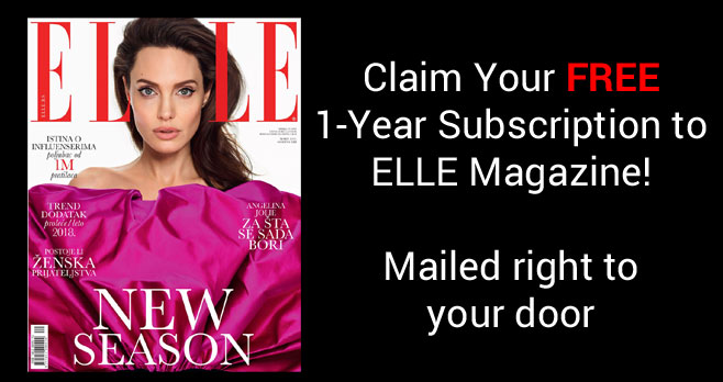 Get a one-year Subscription to Elle Magazine for Free when you fill out the form. Mercury Magazines is giving away this complimentary 1-year subscription with no strings attached.