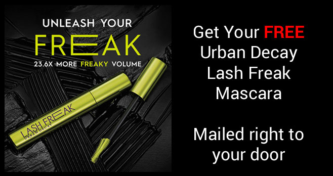 Try Urban Decay's NEW Lash Freak Volumizing Mascara for Free! Claim your free sample now. Urban Decay's NEW Lash Freak Mascara is a unique brush fully loaded with formula to create bold volume & length in a few easy steps.