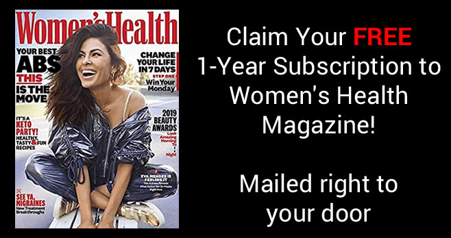Get a one-year Subscription to Women's Health Magazine for Free when you fill out the form. Mercury Magazines is giving away this complimentary 1-year subscription with no strings attached.