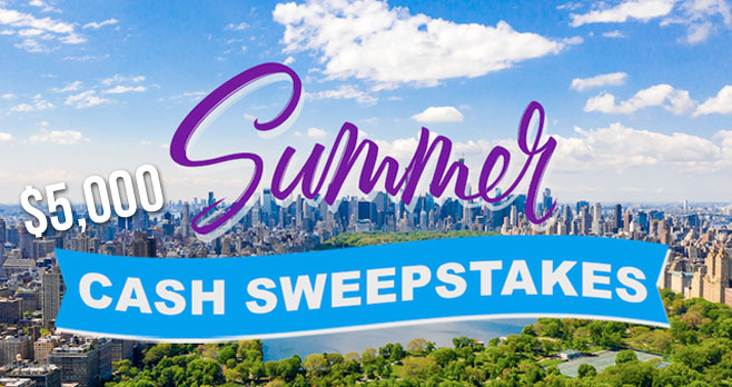 Hurry and enter because this sweeps ends soon! Enter for your chance to win $5,000 in cash from The View!