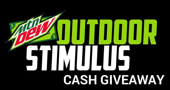 MTN Dew is giving 100 entrants each day a $20.00 stimulus check to pay for your hunting or fishing license. Try again tomorrow to find out if you will be one of the first 100 people tomorrow to catch your share of $100K and grab $20 toward your hunting or fishing permit.