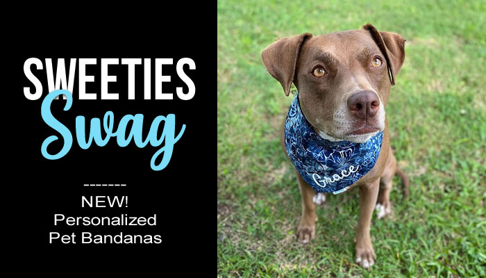Sweeties Swag Personalized Pet Dog Bandannas