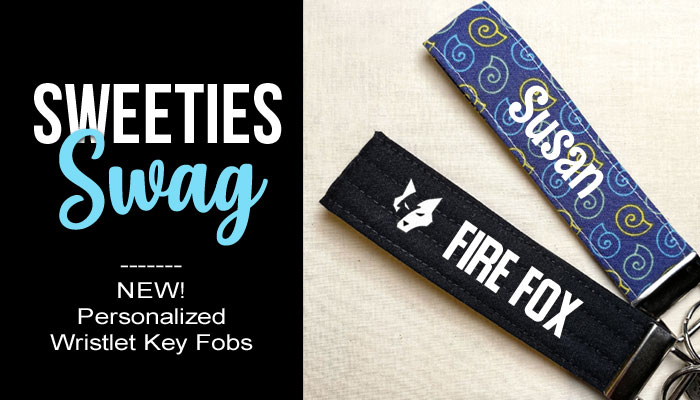 Sweeties Swag Personalized Wristlet Key Fobs