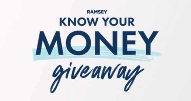 Ramsey is giving away cash every week this August to celebrate the kickoff of Rachel Cruze's brand-new book Know Yourself Know Your Money. Enter daily to increase your chances of winning a weekly $500 prize or the $3000 grand prize!