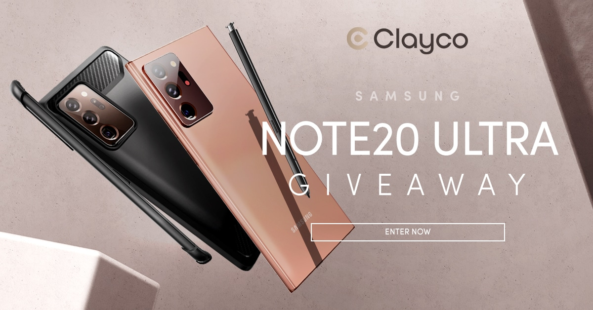 Enter for your chance to win a #Samsung Galaxy #Note20 Ultra Plus a Modern Style Case by Clayco, a $1,400 value. There will also be 10 runner-up prizes, any Clayco phone case of winner's choice