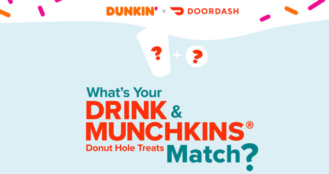Enter the DoorDash x Dunkin' Match Giveaway for your chance to win a $100 DoorDash gift card #DoorDashDunkinMatch