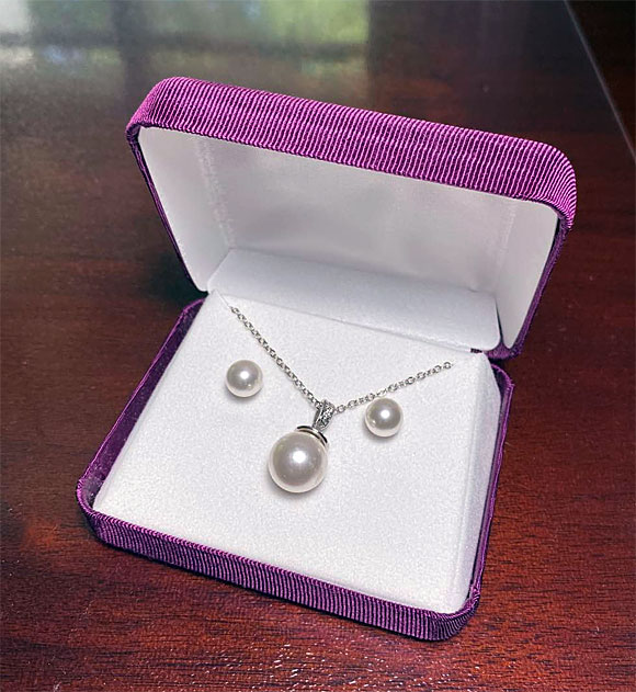 Win a Pearl and Diamond Necklace/Earring Set