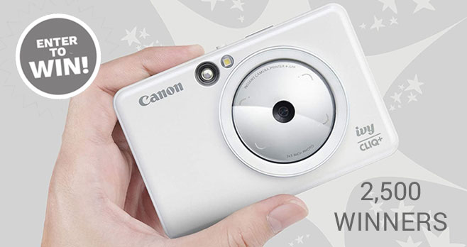 Enter for a chance to win an #Canon IVY CLIQ+ Instant Camera Printer!
