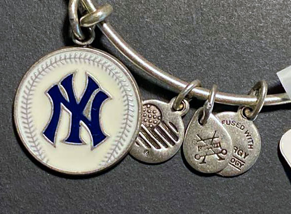 Win a New York Yankees MLB Charm Bangle Bracelet from Sweeties Sweeps