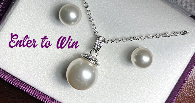 Win a Pearl & Diamond Necklace/Earring Set