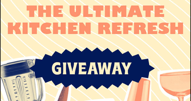 Enter for your chance to win a $2,500 Kitchen Upgrade! Enter to win the ultimate line up of prizes guaranteed to give you a second wind in the kitchen. If you've found yourself in a cooking rut, you're not alone.