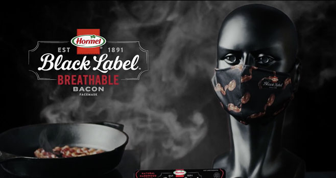 HormelFoods launched agiveawayfor fans to receive a free, limited-edition package of thebacon-scentedfacemask. #BreathableBacon