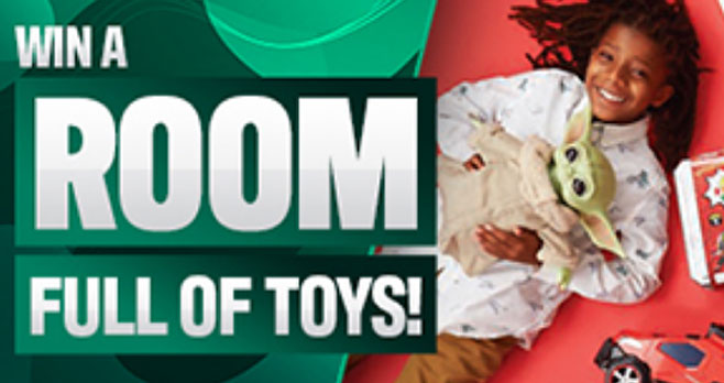 Enter for your chance to win more than $1,000 worth of the hottest holiday toys when you enter the The Toy Insider Room Full of Toys Holiday Sweepstakes! Three runners up will win $200 boxes full of fun!