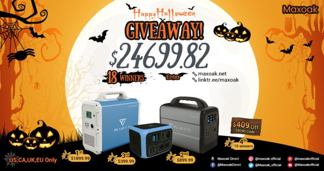 Who wants to win some great prizes from Maxoak? #GiveawayAlert @Maxoak_official is giving away 18 #prizes with total value $24,699.82. Enter daily and often. Share with friends to get bonus entries and you could win!