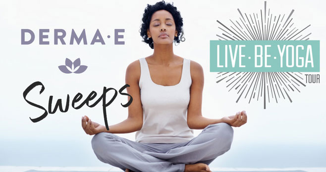 Enter for your chance to win awesome Yoga Essentials and DERMA E natural facial care products all month long! Yoga Journal and DERMA E want to help you decompress with great prizes - new random winners chosen every day!