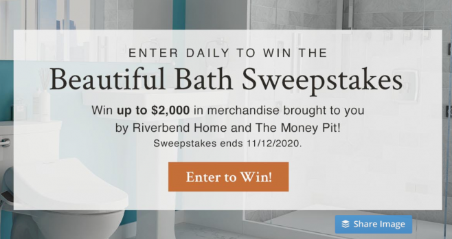 Enter Money Pit's Riverbend Home Beautiful Bath Sweepstakes for your chance to win $3,500 worth of bath products from American Standard and Grohe! #GiveawayAlert Select from beautiful fixtures, faucets and more that deliver on style, sustainability and performance!
