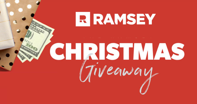 Dave Ramsey is giving away cash prizes! Make your Christmas a little merrier with some extra cash! It's not too late for 2020 to be your lucky year.Enter daily for a chance to win $500 every week until Christmas OR a grand prize of $5000.
