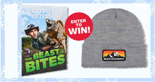If you're a fan of adventurer and animal expert Coyote Peterson and the Brave Wilderness crew you're going to want to enter to win a totally wild Brave Wilderness Adventure prize pack! Whether you're headed out on a nature hike or just exploring your backyard, we know you're always ready for your next big adventure.