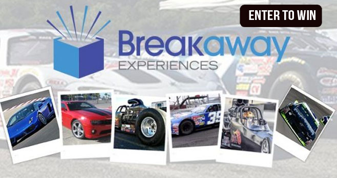 Enter for your chance to win a thrilling RACE CAR DRIVING EXPERIENCE! Stock Car Driving - Drag Racing - Exotic Car Driving - You choose! With exciting racing experiences all over the USA, Breakaway Experiences wants you in the driver's seat putting the pedal to the metal!
