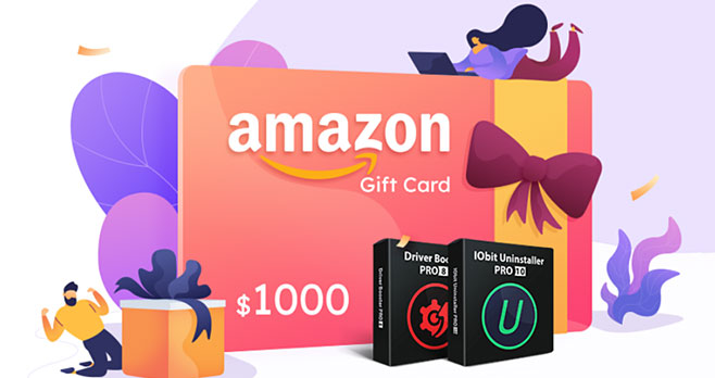 Play the Enter for your chance to win IObit Lucky Draw game and you could win a $20, $100, $500 or even $1,000 Amazon gift card. 5,000 more winners will receive IObit Uninstaller Pro or Driver Booster Pro for a year!