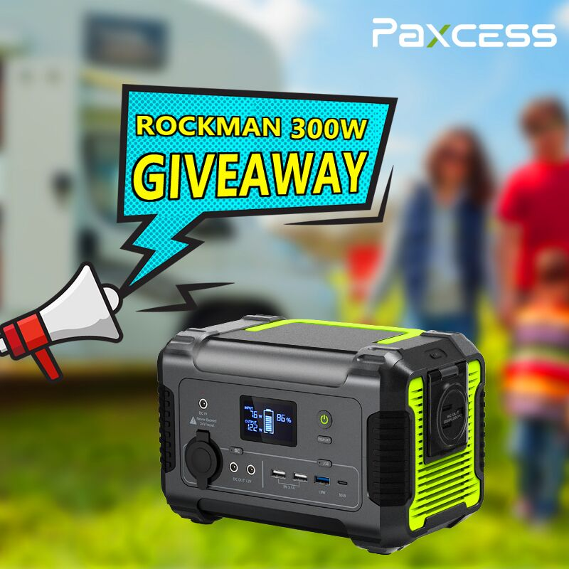 Paxcess is giving away a Rockman Portable 300w #PowerStation. If you lose power you can stay on get back up and running in no time. Three winners will be chosen.