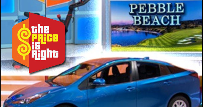 Enter the Price is Right Showcase Sweepstakes and you could win a brand new 2021 Toyota Prius L Eco Hybrid, a trip to Monterey, California and an Echelon indoor app-enabled bike!