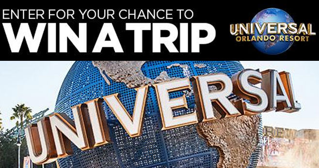 Enter for your chance to win a trip to Universal Orlando Resort in Florida.