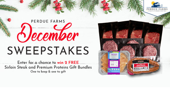 Enter for your chance to win FREE Sirloin Steak & Premium Proteins Gift Bundles from Perdue Farms. Comment your favorite holiday activity with #PFHolidaySweepstakes Follow @PerdueFarms and tag the friend who'd receive the bundle