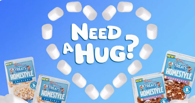 50 WINNERS! Everyone could use an extra hug so Kellogg's made one you can eat: Rice Krispies Treats Homestyle. Share who you want to hug the most with #RKTHomestyleEntry for a chance to win a 1st tast. Treat yourself to yummy recipes, treat-making videos and all sorts of bite-sized content from Kellogg's Rice Krispies
