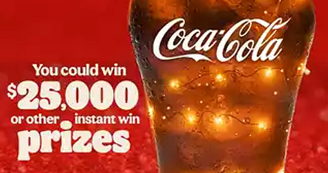 Celebrate Merry Fizzmas with BK and you could win $25,000 or one of over 15,000 other prizes. You must have a Burger King account in order to participate. Free to join.