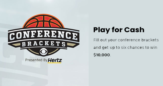 Fill out your #MarchMadness Conference Brackets and get up to six changes to win $10,000 in cash from #CBSSports. Pick against your friends using your rules and your preferred conferences.
