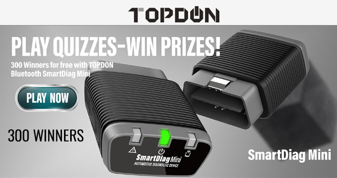 Enter for your chance to win 1 of 300 TOPDON Bluetooth OBD2 Scanners.