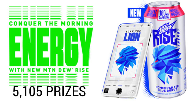 Mountain Dew Rise Conquer The Morning Instant Win Game